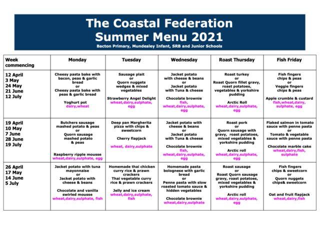Summer 2021 Menu 2